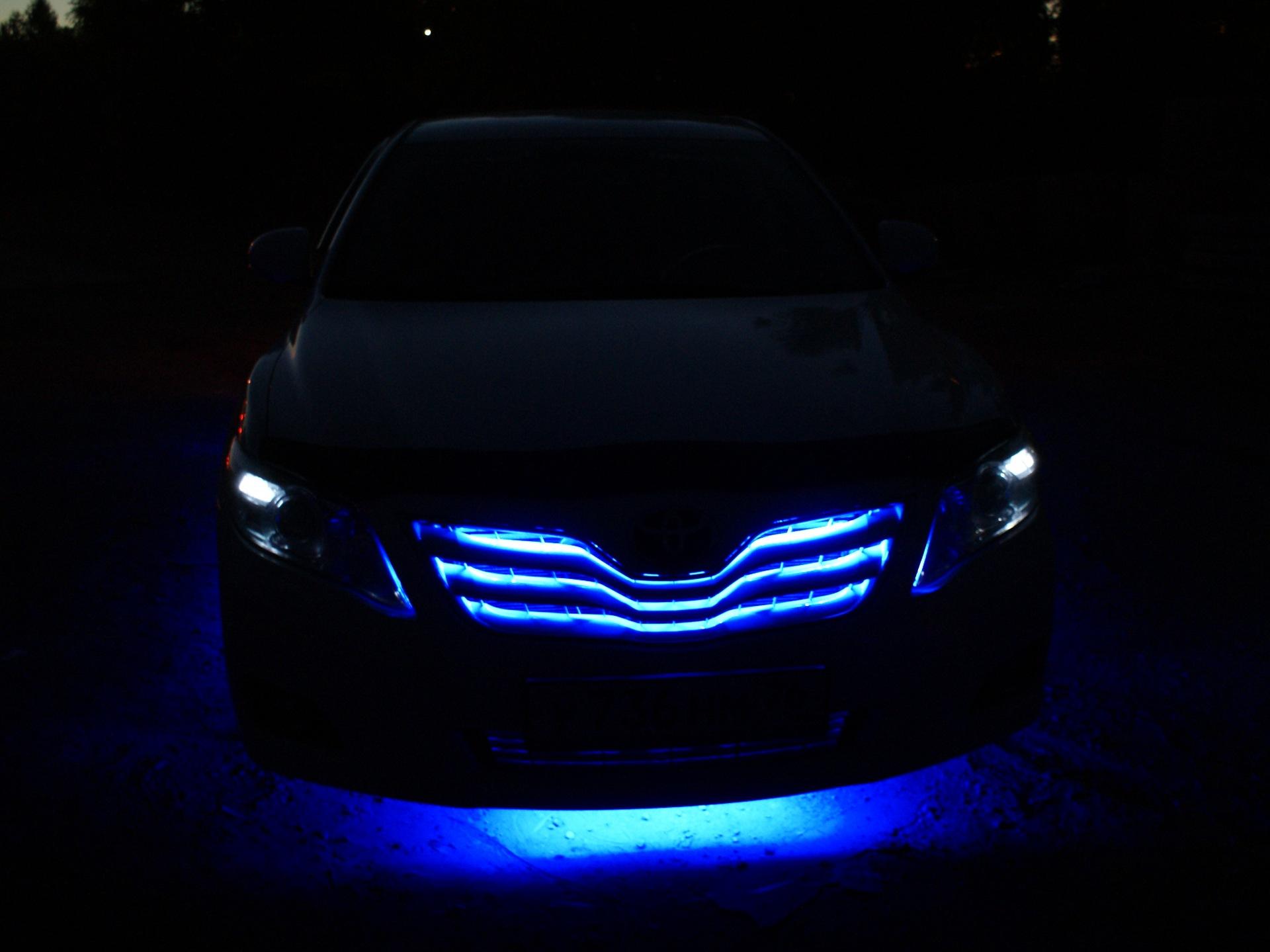 Подсветка бампера тойота фото