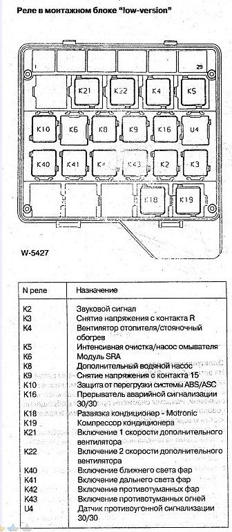 Схема проводки LOW для 2-х