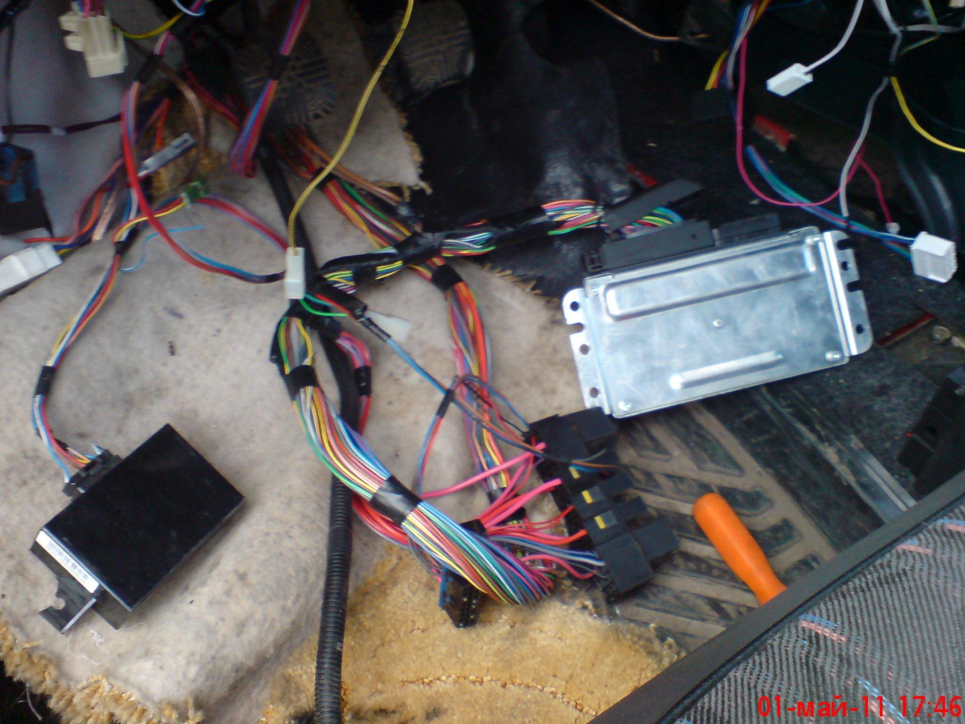подпанельная проводка карбюратор 21083 схема