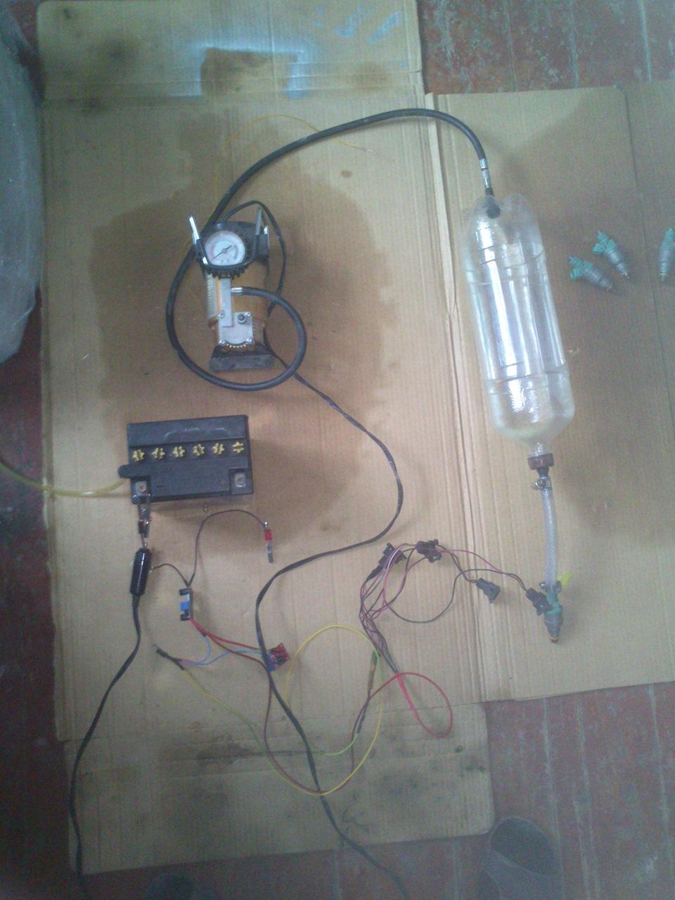Установка для промывки двигателя своими руками