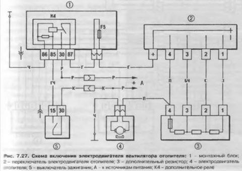 Электродвигатель вентилятора охлаждения.