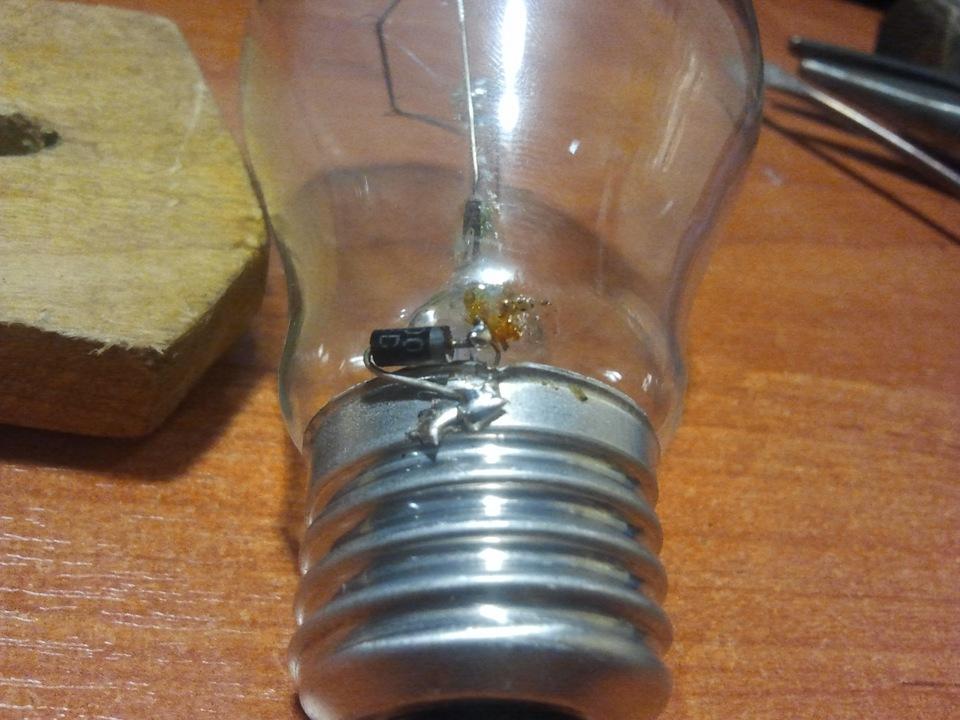 Диод в лампе накаливания