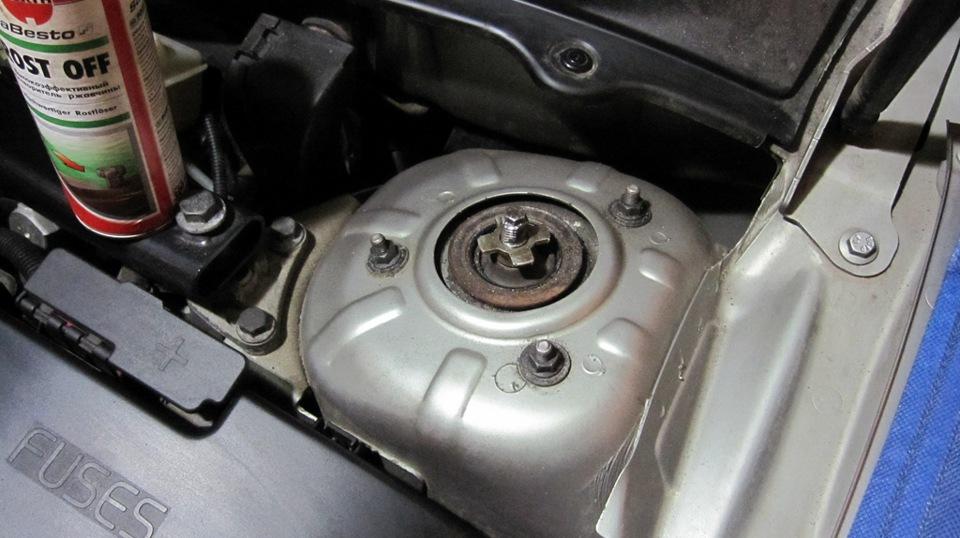 Замена передних амортизаторов ХС - бортжурнал Volvo XC90 D5-Уникальный Бурундук 2003 года на DRIVE2