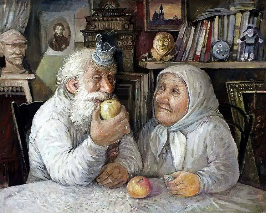 Прикольные картинки о стариках старушках, днем рождения