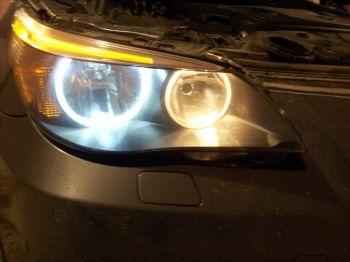 BMW e60 лампа в габаритные огни
