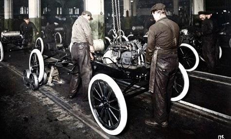 Генри форд запустил конвейер элеватор штанги