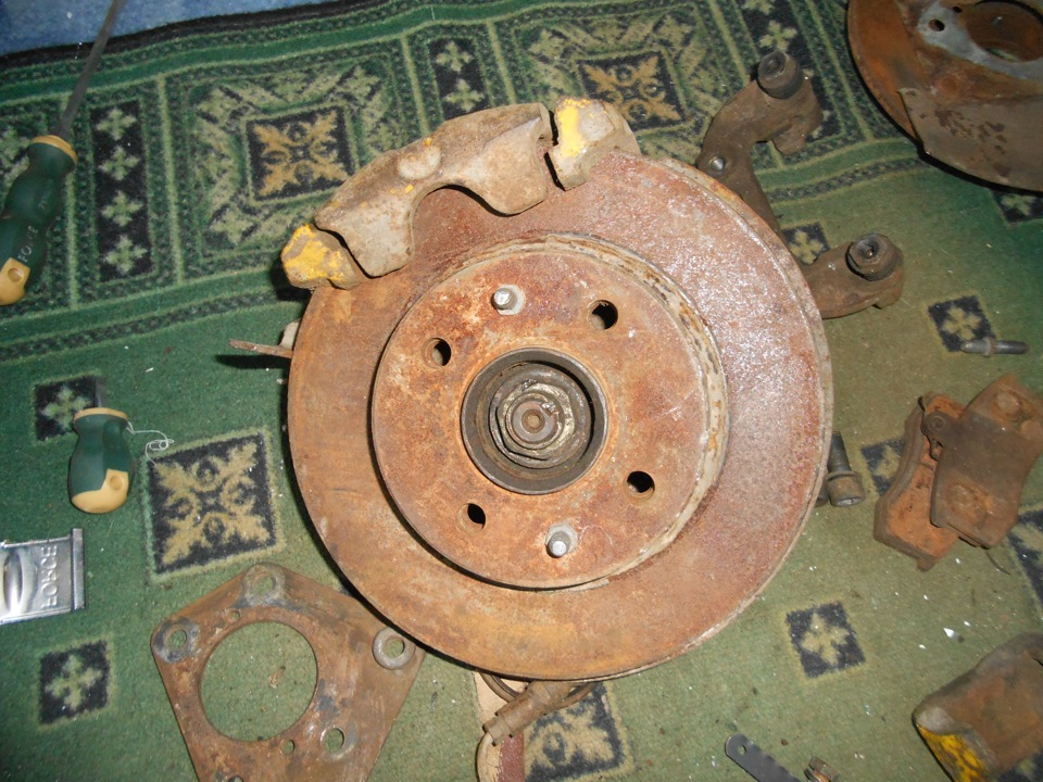 Дисковые тормоза на ваз 2107 задние с тросиковым ручником