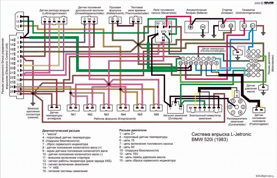 схема проводки L-jetronic