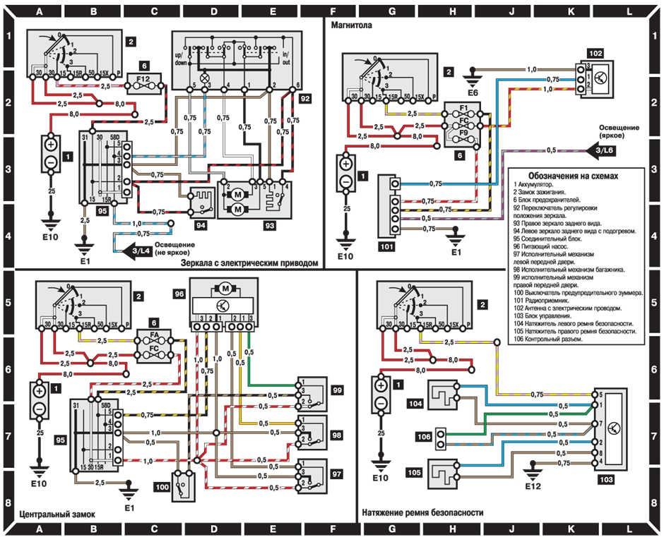 схема подключения стеклоподъемников мерседес геленвагеном
