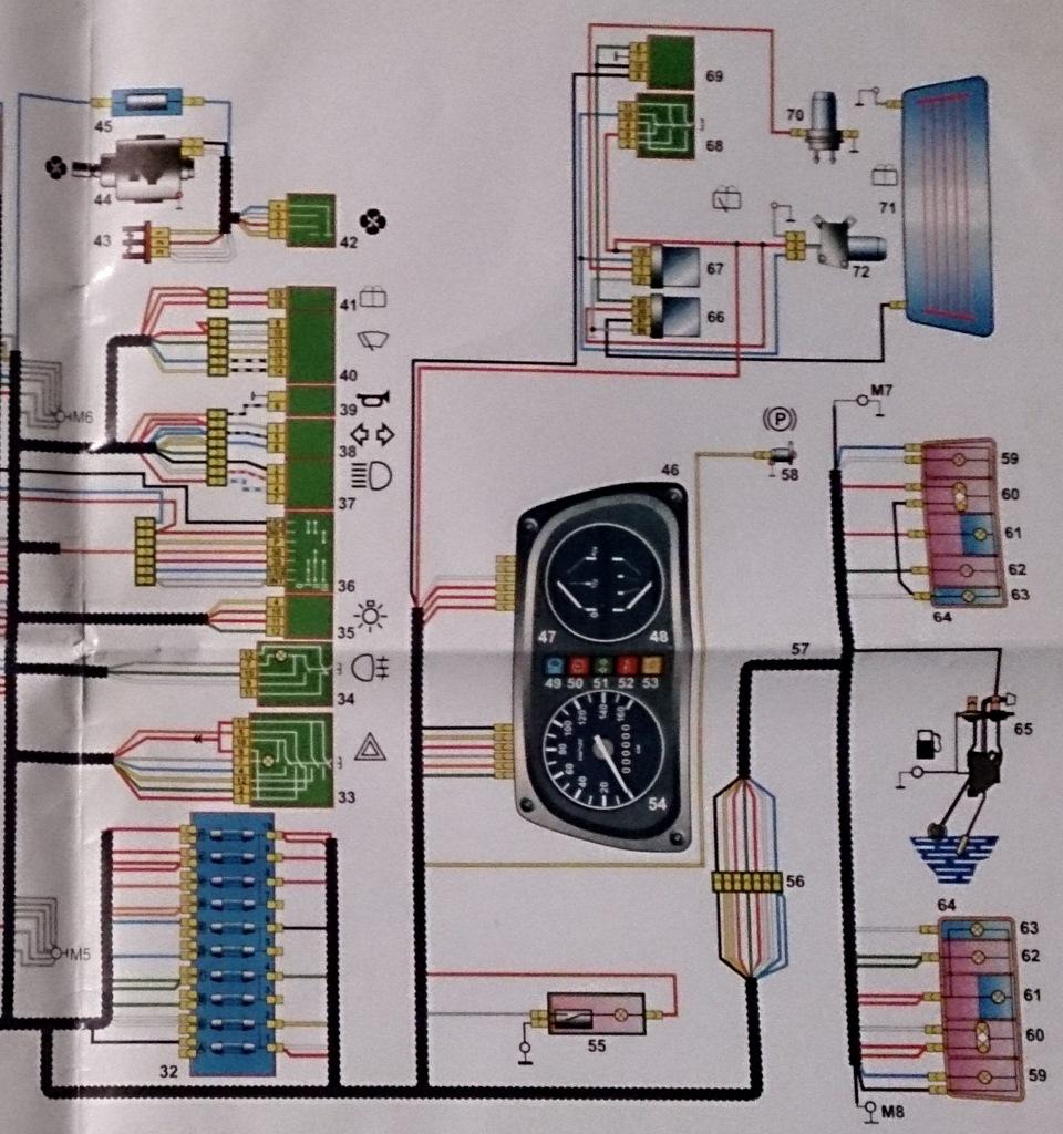 Проводка таврия 1102 схема 414
