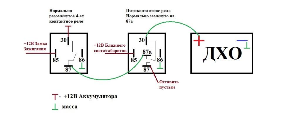 Реле 753777 схема подключения