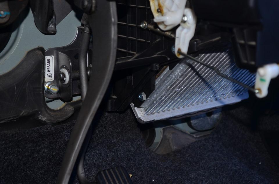 Замена радиатора печки ланос фотоотчет