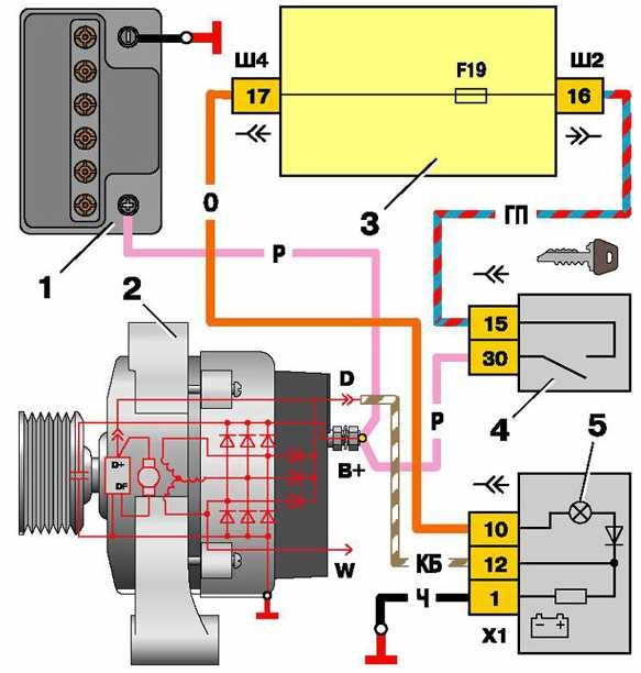 Генератор 21214 схема подключения фото 165