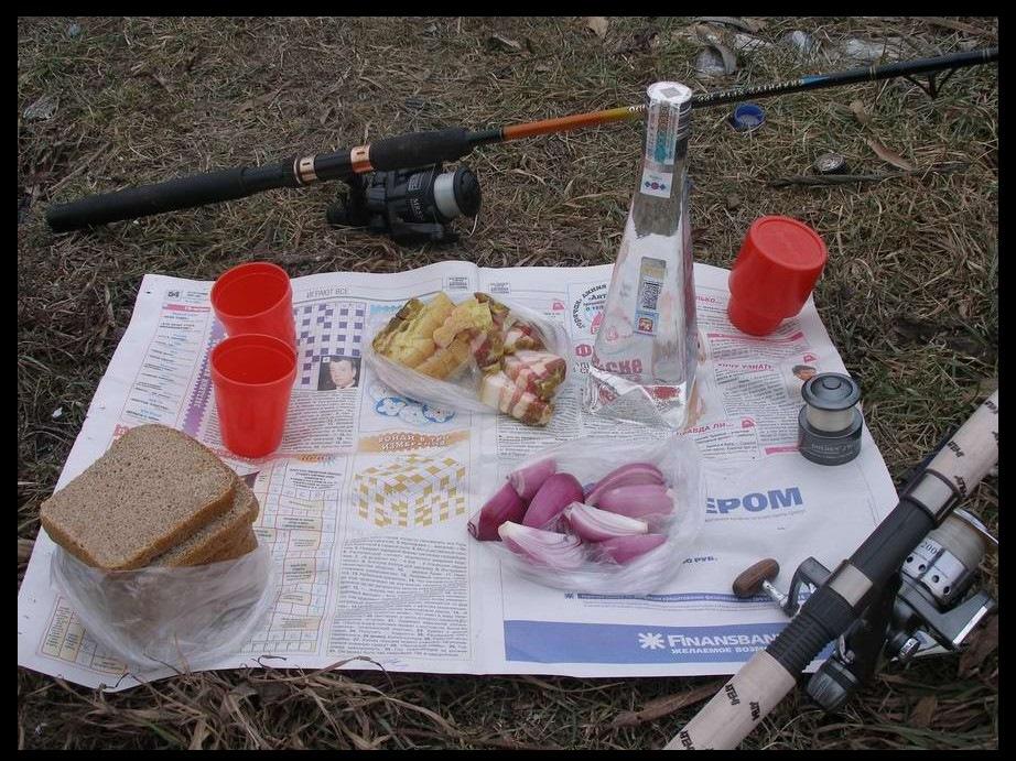 Бутерброд на рыбалку мужу