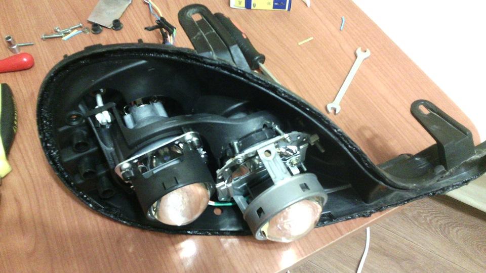 Би-галогеновые линзы в фары, работа над ошибками - бортжурнал Plymouth Neon 2000 года на DRIVE2