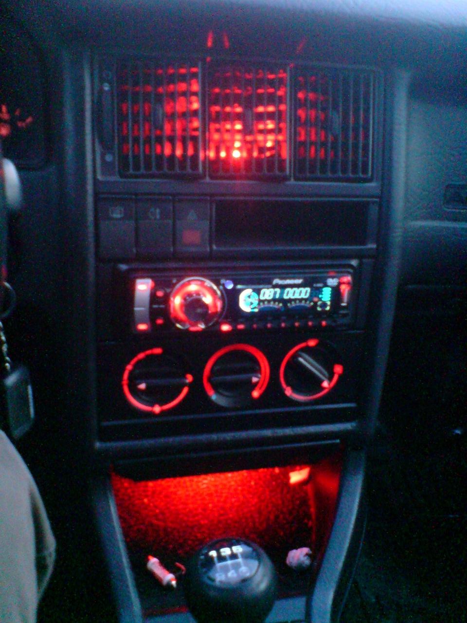 Подсветка  в ауди 80 115