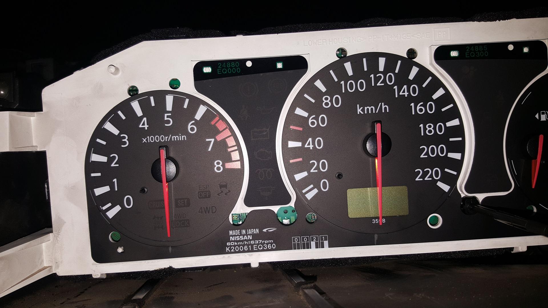 авто ниссан х трейл паниль приборов как установить время на часы и инструкцией