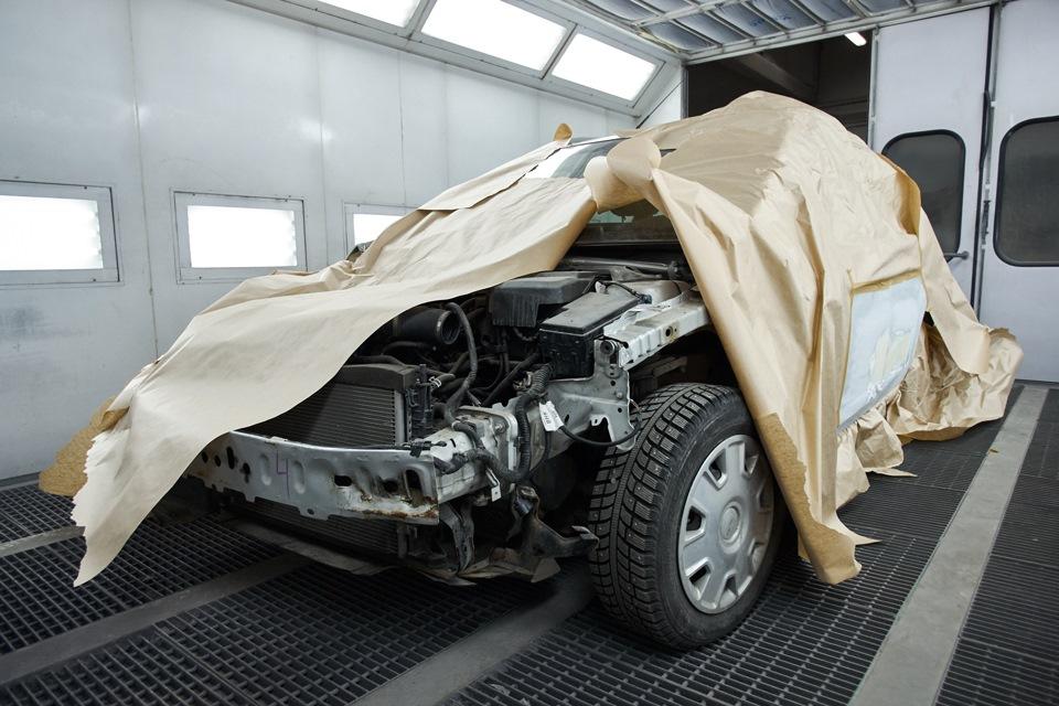 Маскировка деталей Ford Focus, не нуждающихся в покраске
