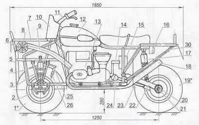 Чертежи мотоцикла своими руками