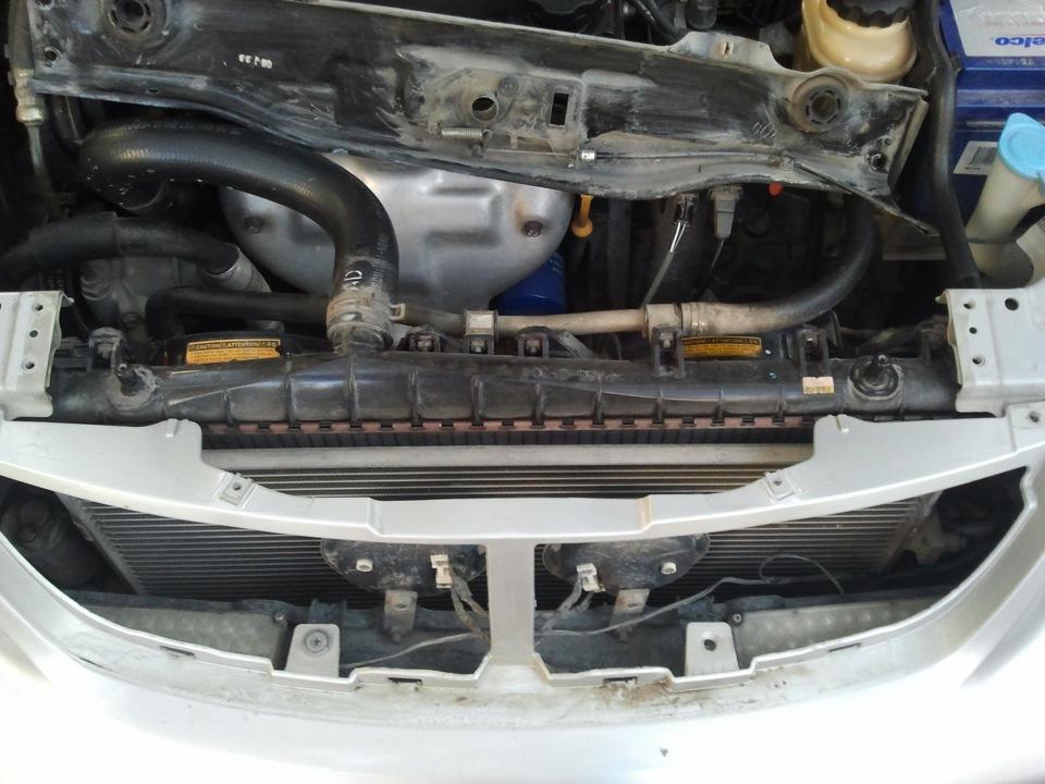замена радиатора охлаждения на chevrolet lacetti