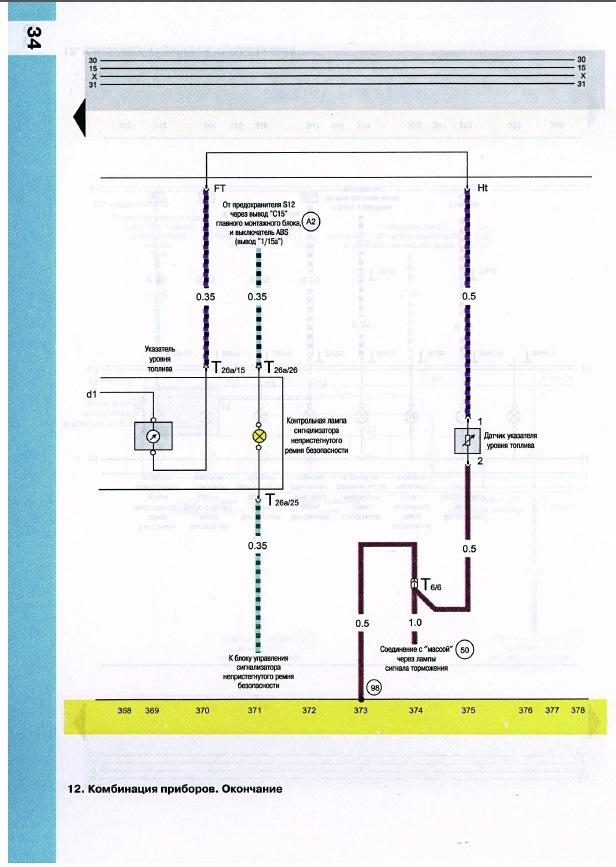 Схема приборной панели audi