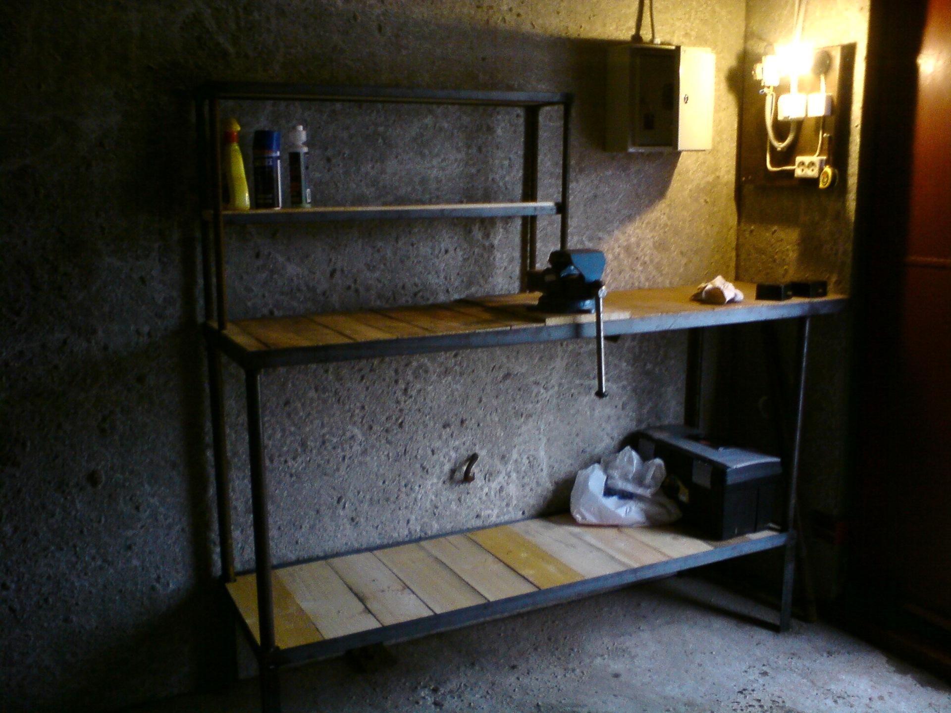 Чертеж верстака слесарного для гаража своими руками фото 407