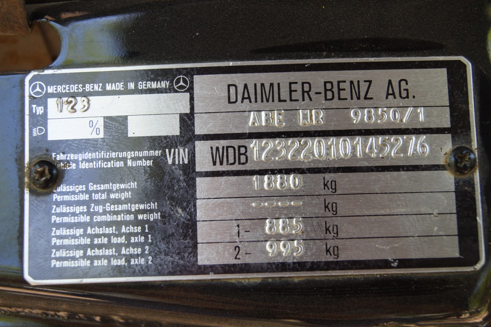 Vin mercedes benz w123 1983 drive2 for Vin decoder mercedes benz