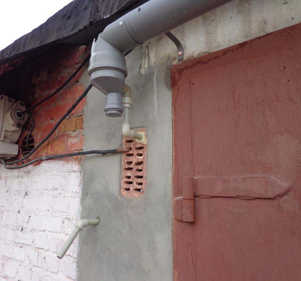 Как сделать водосток в гараже своими руками 19