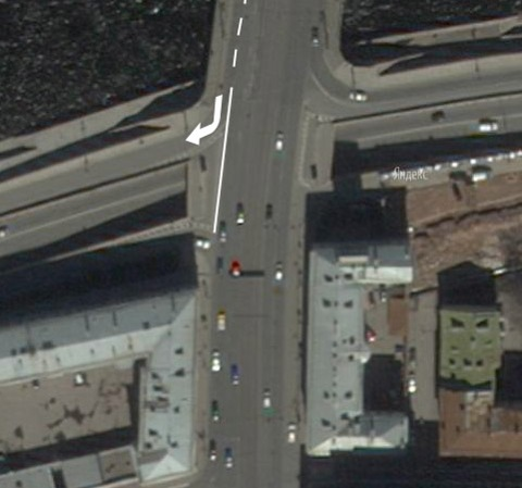 схема движения по Литейному мосту.