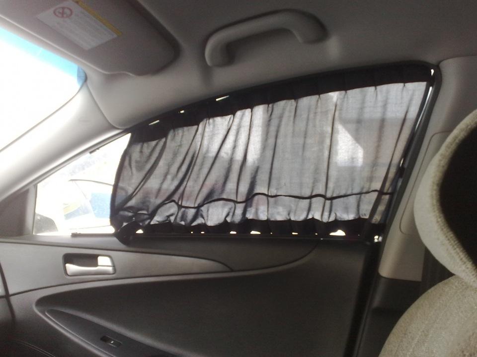 Шторки на стеклах автомобиля своими руками 786