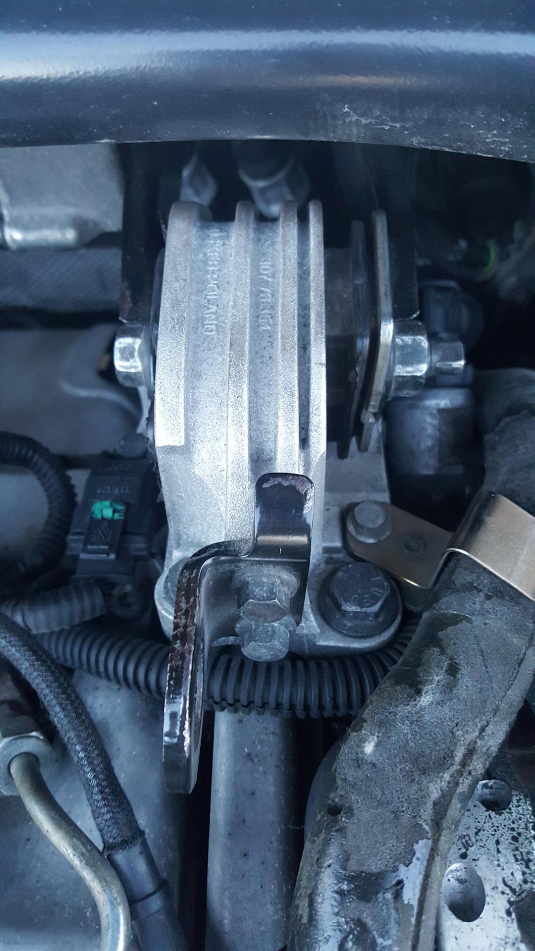 регулировка верхней опоры двигателя вольво v70xc
