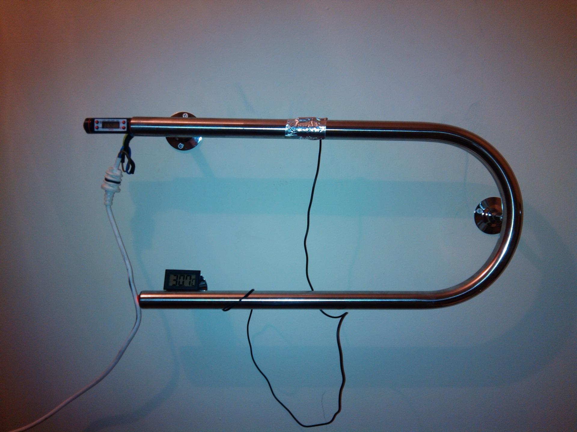 Полотенцесушитель с греющим кабелем своими руками