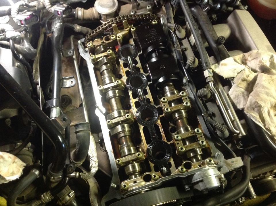замена прокладки гнц audi 1.8 turbo