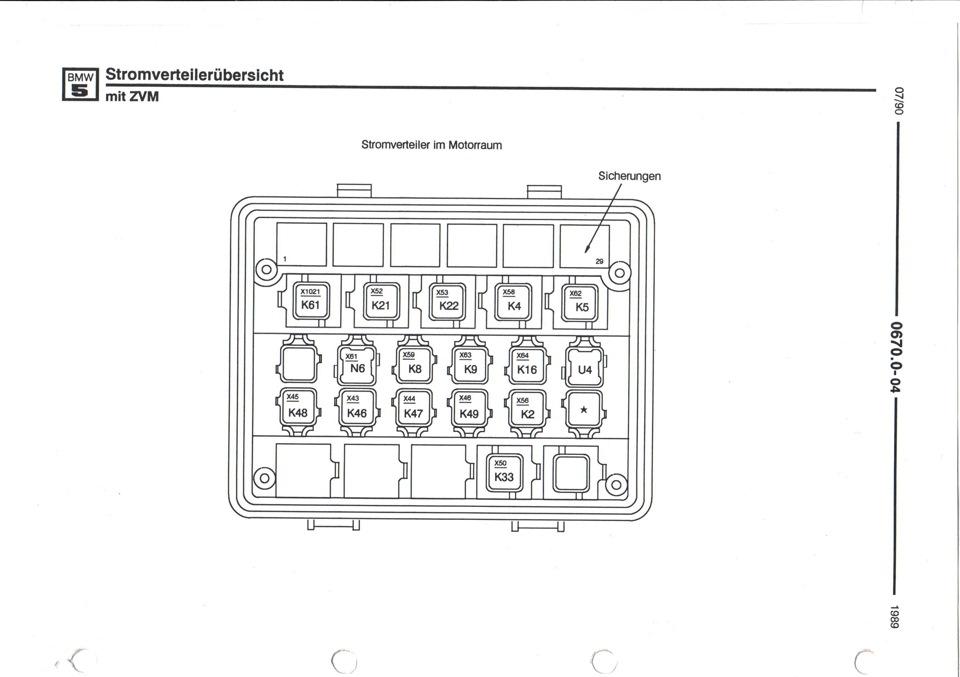 Схема подкапотного монтажного