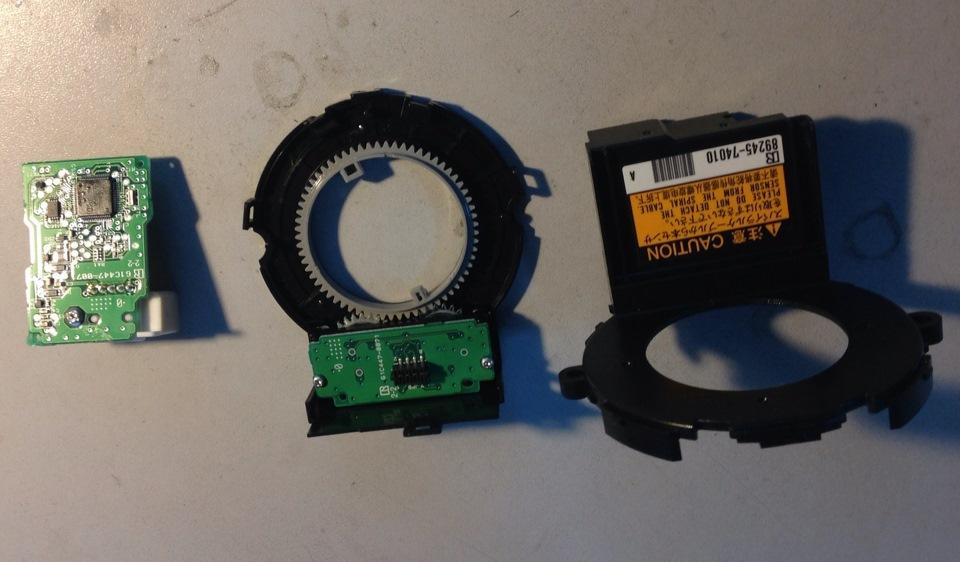 Repair sensor steering angle — C1433 error — Toyota Prado 150