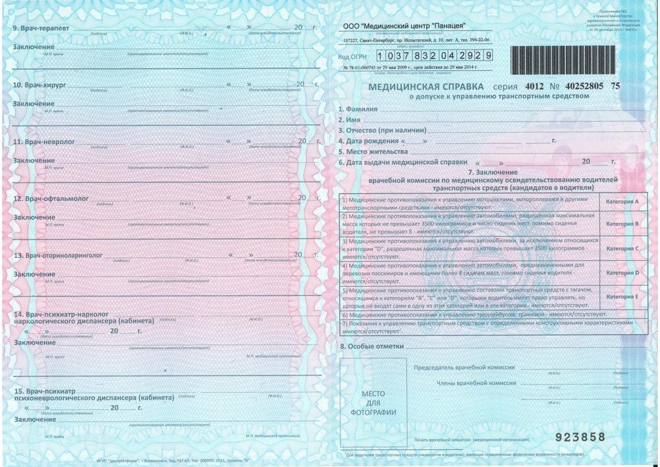 Медицинская справка для водителей в челябинске Выписка из истории болезни Черневская улица