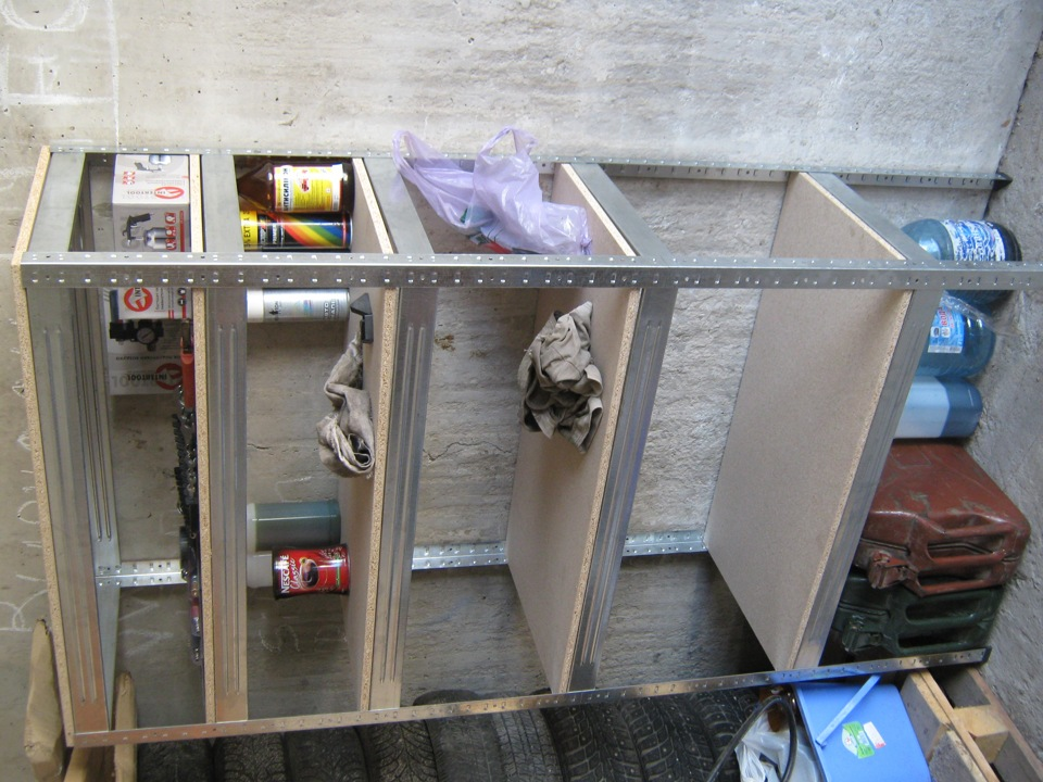 Шкафчики в гараж своими руками