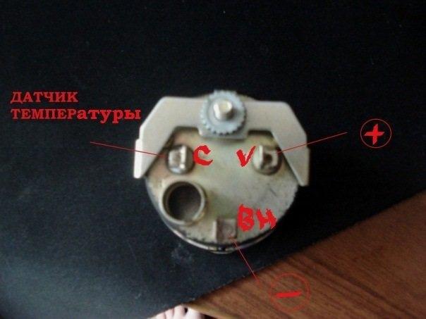 Схема подключения датчика температуры ваз-2106