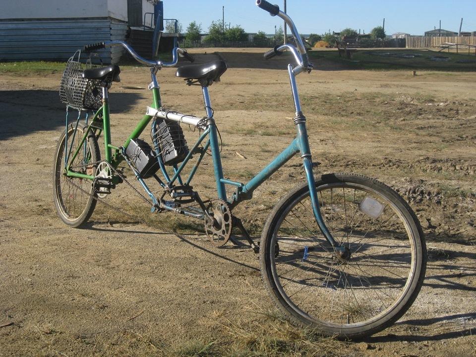 Велосипед тандем салют фото