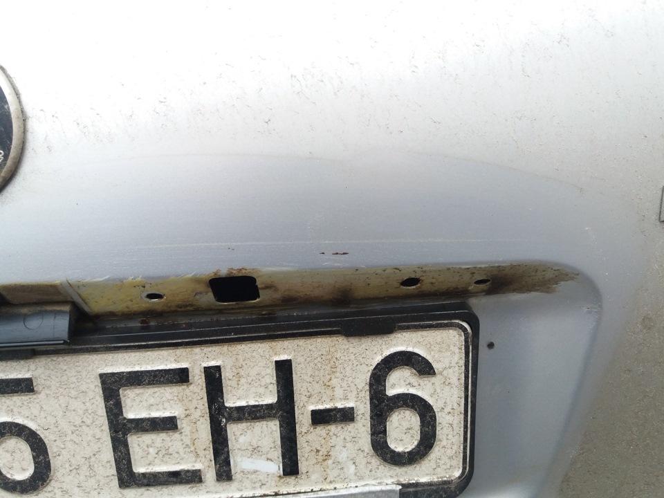 накладка (проставка) под номерной знак skoda