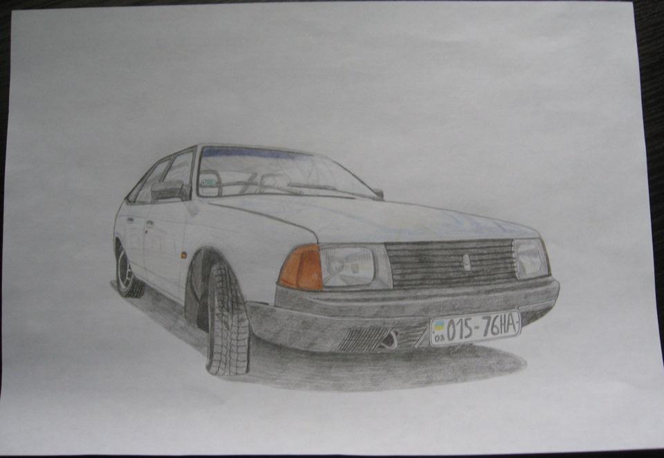 Как нарисовать москвича