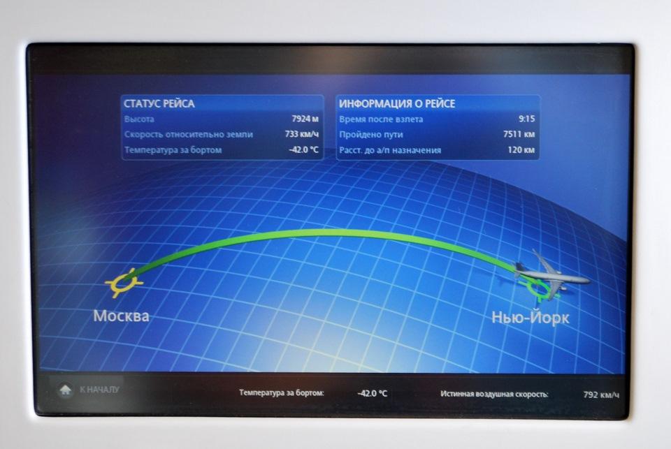 карта полета и маршрутная