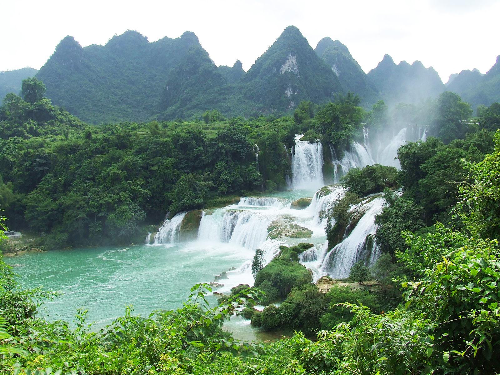 красивые фото водопадов вьетнама глазурь или