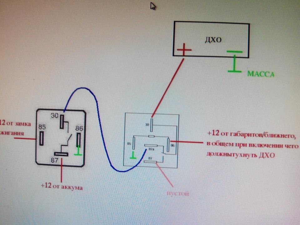 Схема подключения дхо при запуске двигателя