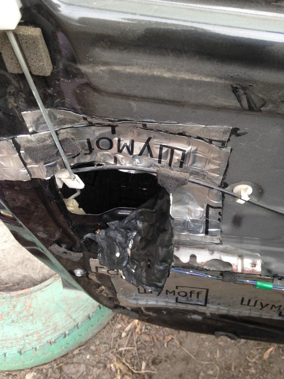 ремонт актюатора двери опель комбо