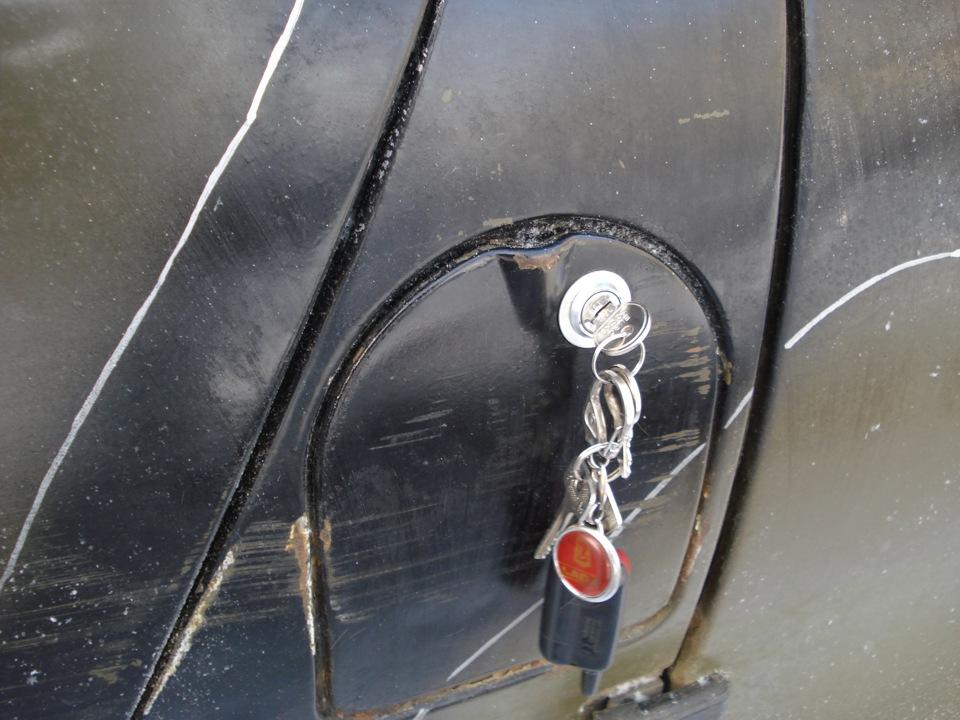 Как сделать замок на крышку бензобака