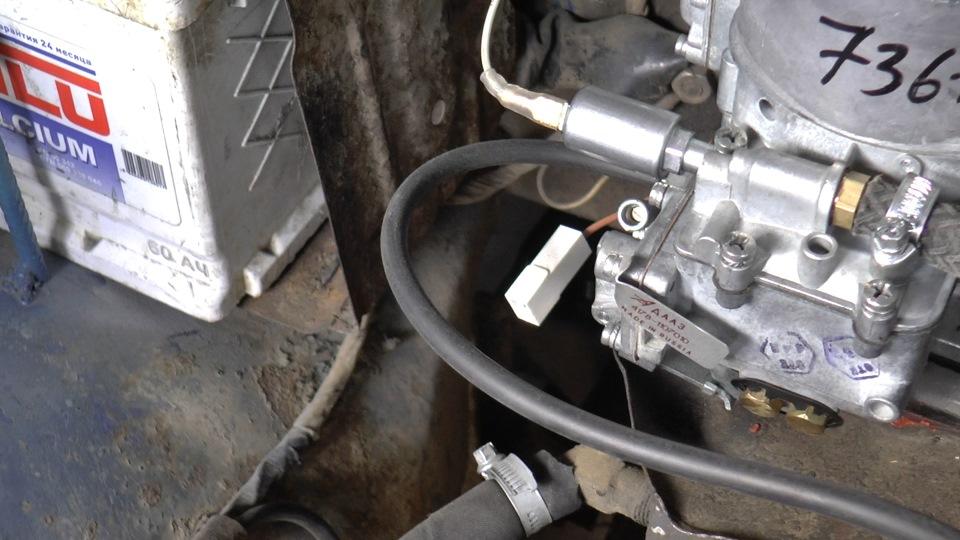 Электромагнитый клапан подключили к катушке, а вообще можно к любому плюсу 12в.