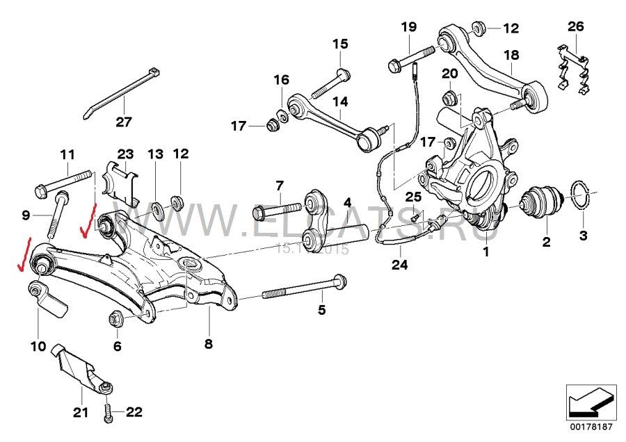 замена сайлентблока переднего рычага BMW e46