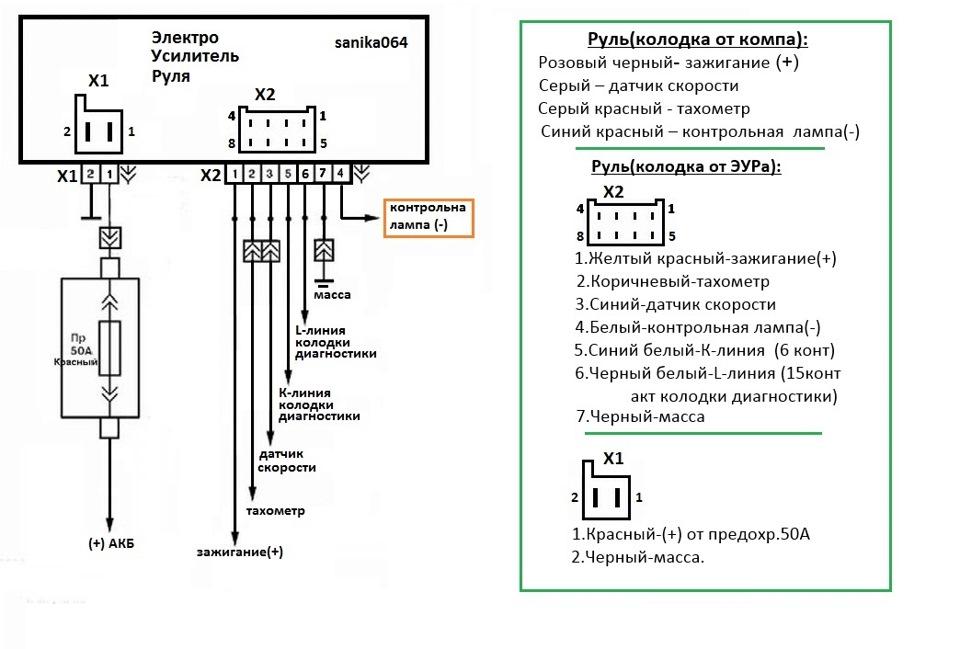 Схема электроусилителя