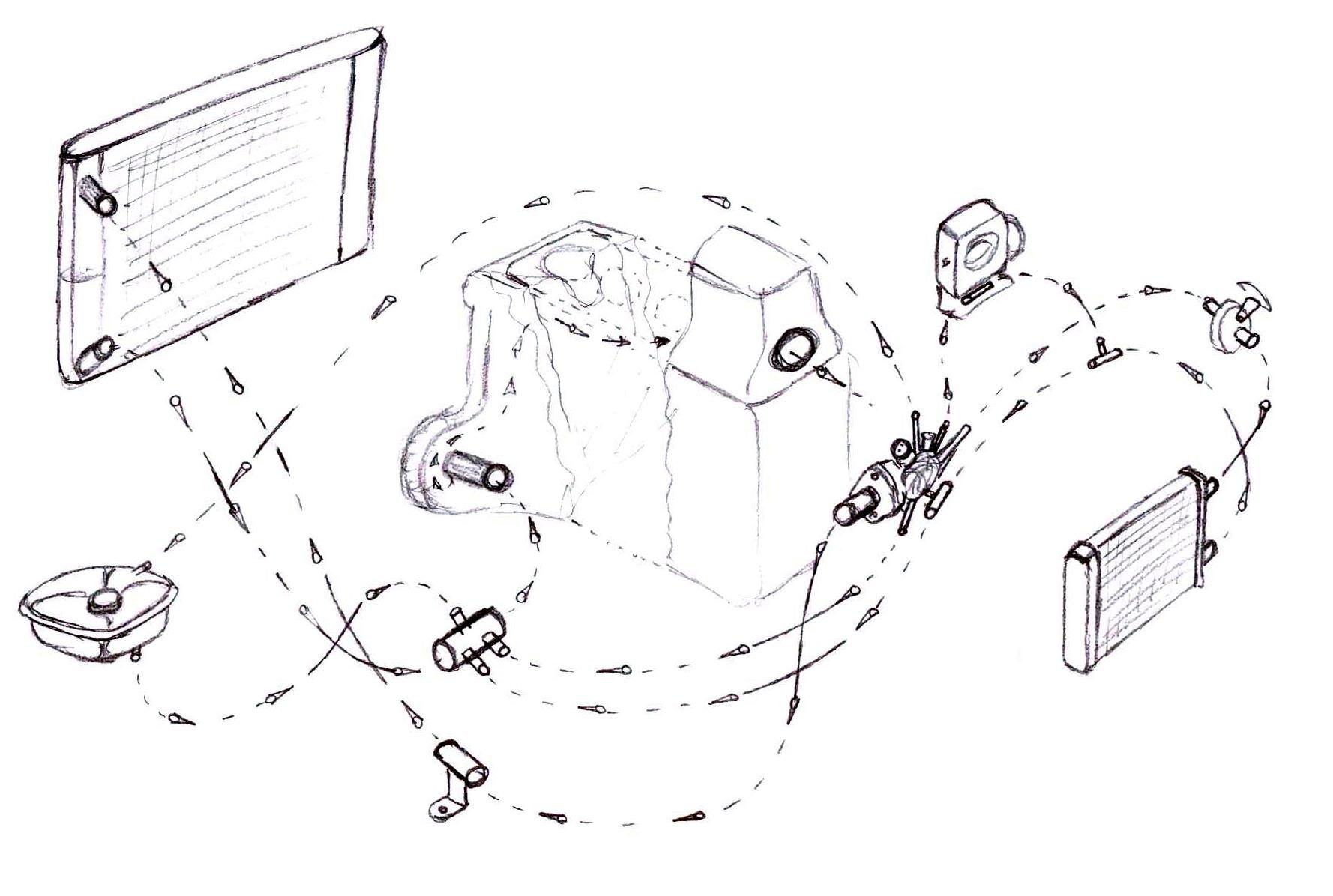 схема системы охлаждения москвич 2141